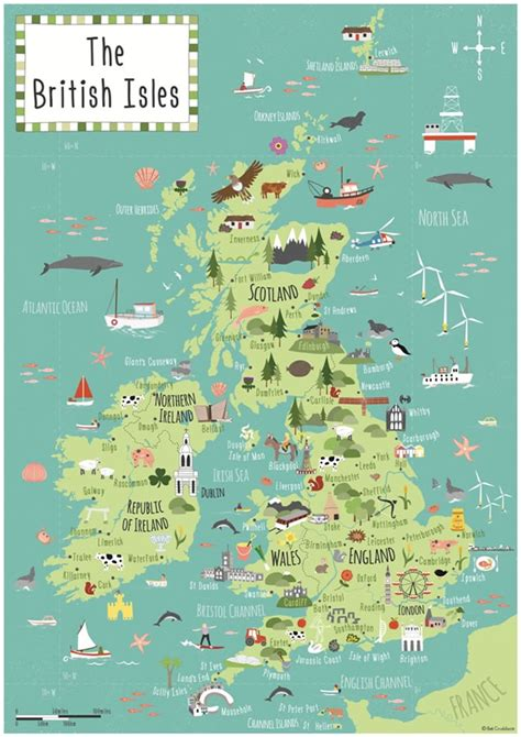 map of isles illustrated a2 childrens map of the isles bek cruddace illustration