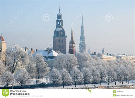 Architecture Design Plans by Winter In Riga Latvia Stock Photo Image 49510600