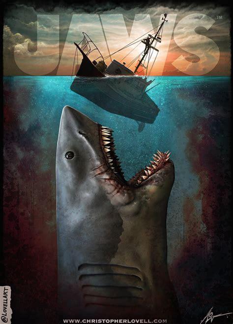 Kaos Keren Jaws 1975 Shark Classic jaws by lovell on deviantart