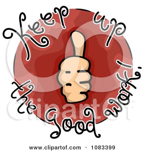 clipart thumbs up keep up the good work icon royalty