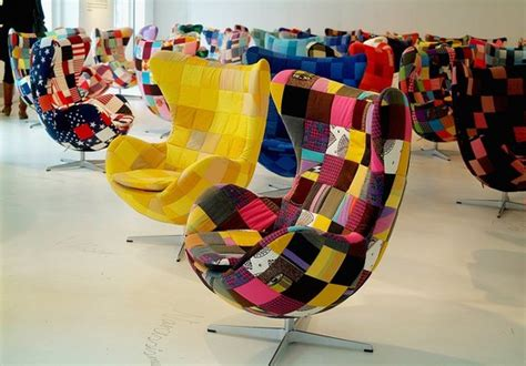 Patchwork Egg Chair - this just in arne jacobsen s classic egg chair reimagined