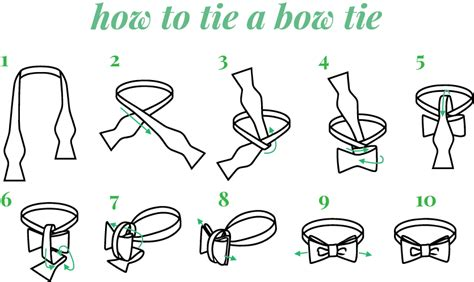 how to tie a bow tie step by step instructions