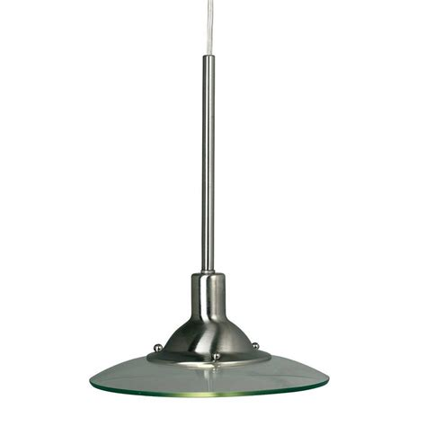 Hton Bay Lighting Fixtures Catalog Hton Bay 1 Light Brushed Steel Linear Track Hanging Pendant Ec0780ba The Home Depot