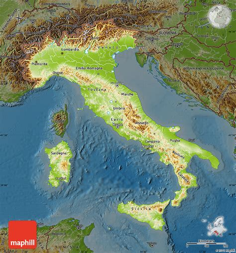 geographical map of italy vegetation map of italy images