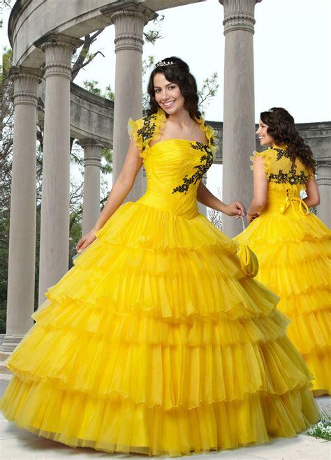 Yellow Ball Gown Dress   Car Interior Design