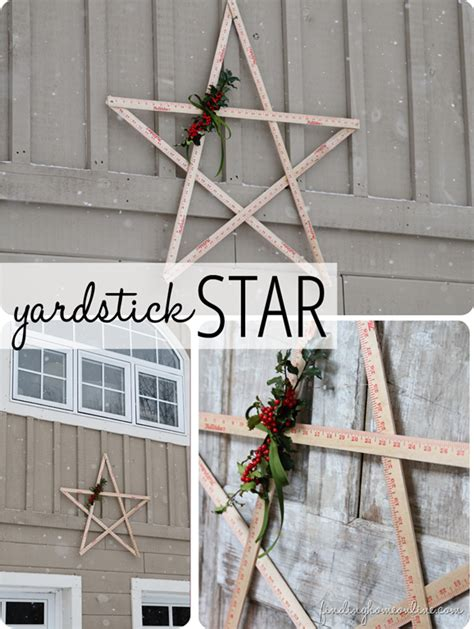 how to make outdoor decorations wood yardstick
