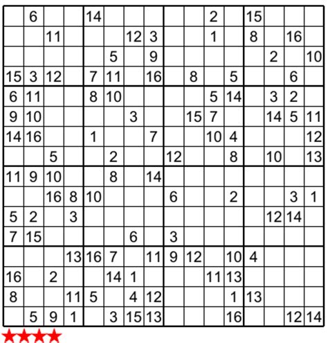 16x16 sudoku printable super sudoku 16x16 n 813 for papa pinterest