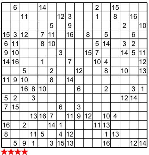 5 best photos of super sudoku 16x16 print monster sudoku super sudoku 16x16 n 813 for papa pinterest