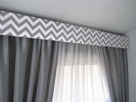 contemporary valance curtains contemporary cornice gray chevron modern cornice board