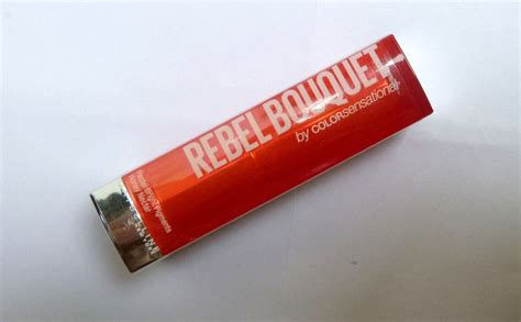 Lipstik Maybelline Rebel Bouquet maybelline color sensational rebel bouquet reb07 lipstick review