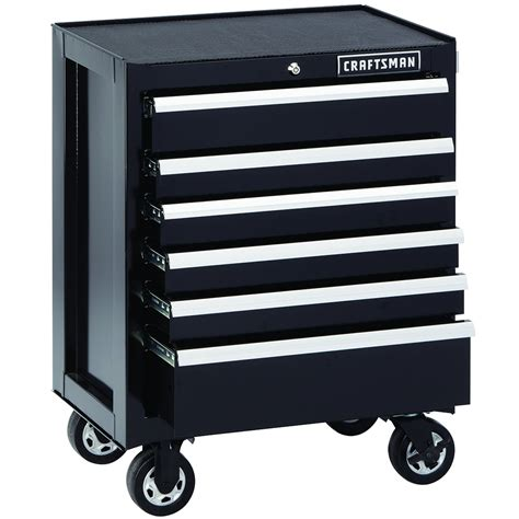 craftsman 6 drawer rolling tool cabinet 6 drawer premium heavy duty rolling cabinet built tough
