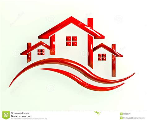 real estate on the house real estate houses image logo stock illustration image 39022571