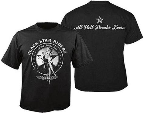 T Shirt Rock In Riders Clothing black riders all hell breaks t shirt official