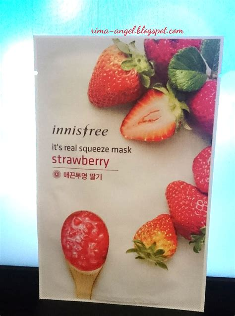 Masker Varian Fruit review innisfree it s real squeeze mask strawberry
