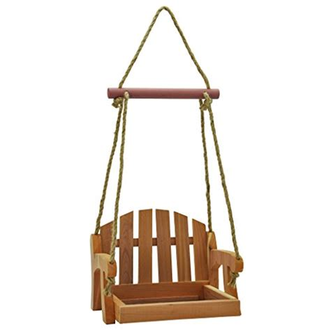 b q swing seat gardirect cedar swing seat bird feeder cedar tray feeder