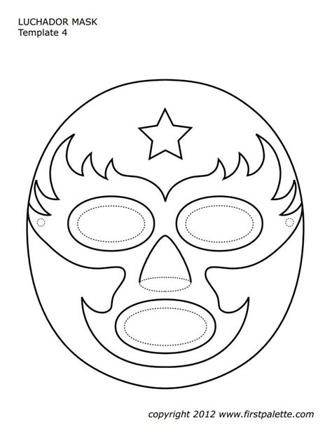 printable seal mask template luchador mask template leo 5 pinterest mask