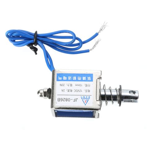 Jf 0826b Dc12v 2a 20n 10mm Pull Push Type Solenoid Electromagnet new jf 0826b 12v 2a reset 10mm push pull type open frame solenoid electromagnet tosave