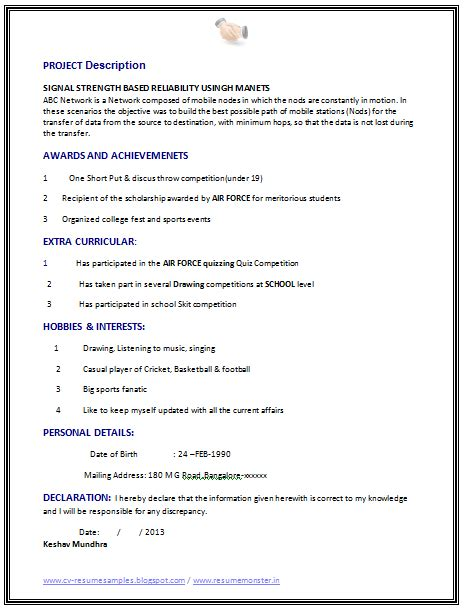 american style resume sample latest resume format