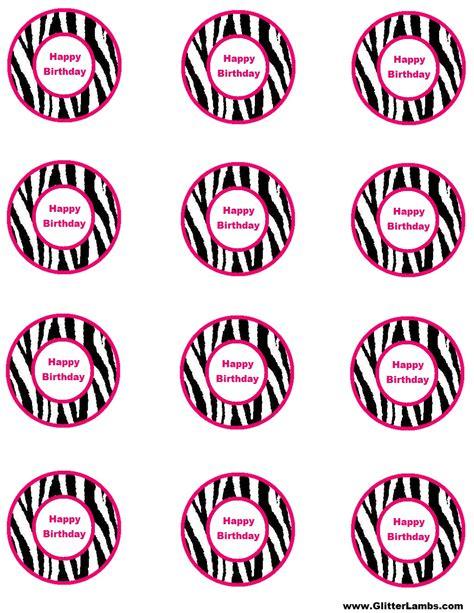 free printable birthday cards zebra print free pink zebra birthday party food cards printables