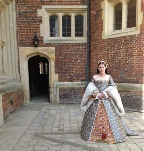 Dress Mikhaila mcneil in katherine parr gown made by