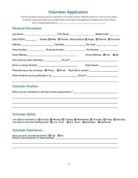 Beautiful Background Check Forms For Churches #4: Church-volunteer-application-1-638.jpg?cb=1430471282