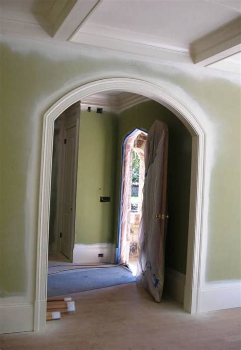 interior arch door trim arched hallway ceiling