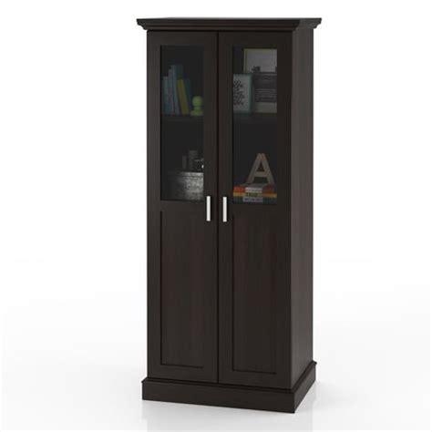 Glass Door Cabinet Walmart Home Trends Glass Door Wardrobe Multi Purpose Storage Cabinet Walmart Ca