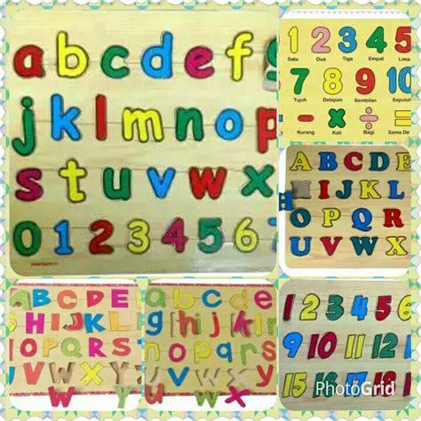 Atham Toys Chunky Puzzle Angka jual mainan kayu non toxic dhian toys