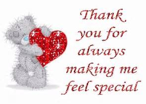 thank you for always me feel special thank you