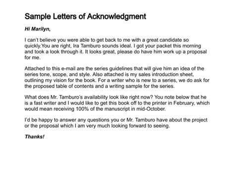 Acknowledgement Letter Sle For Project Acknowledgment Vs Acknowledgement