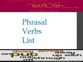 phrasal verbs list 200 most common