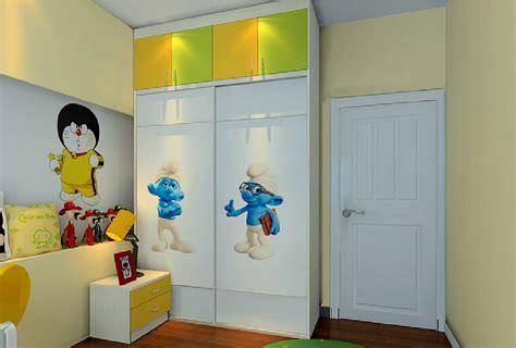 Children Wardrobe Designs children s bed wardrobe and tv 3d house