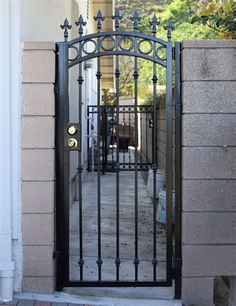 Handmade Wrought Iron - pin 9033 custom gates wrought iron and brass gate and