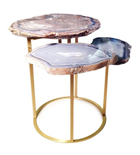 quinn three tier agate coffee table contemporary coffee