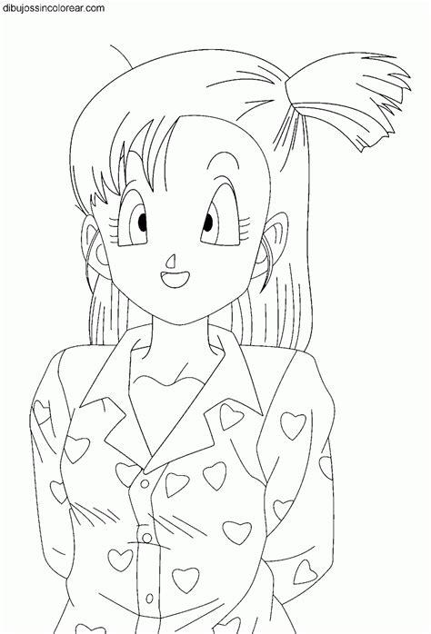 Dibujos Sin Colorear: Dibujos de Bulma (Dragonball) para