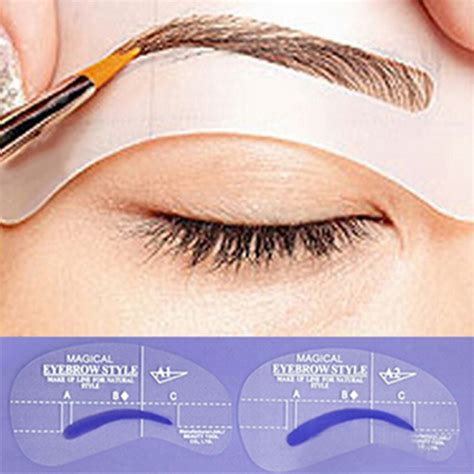 eye brow template aliexpress buy 4pcs professional grooming eyebrow