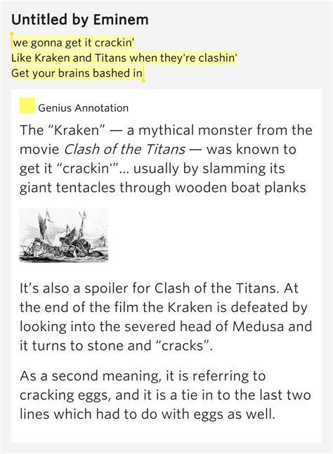 wooden boat lyrics meaning we gonna get it crackin like kraken and titans when
