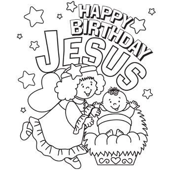 happy birthday jesus coloring free christmas