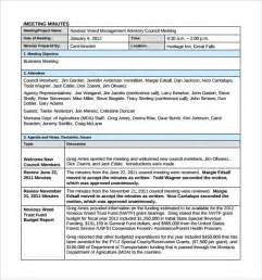 sample project meeting minutes template 9 free