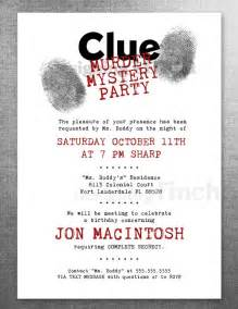 clue birthday invitation murder mystery customizable printable 134 murder mystery
