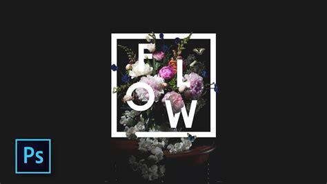 tutorial photoshop typography indonesia cara desain typography bunga keren floral typography