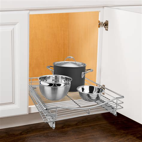 cabinet roll out shelves lynk roll out cabinet organizer pull out drawer cabinet sliding shelf 17 quot w x 18 quot d