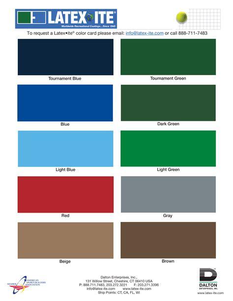 color in latexite recreational coatings dalton coatings