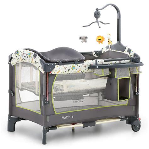 European Baby Cribs Valdera Multi Functional Folding Crib European Portable Bed Bb Newborn Bed Joint With