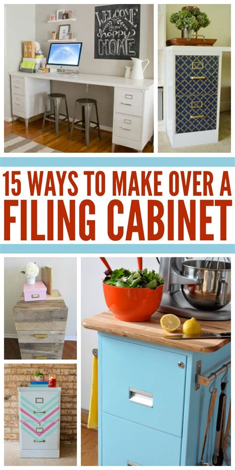 Kitchen Cabinet Manufacturing 15 ways to make over an ugly file cabinet