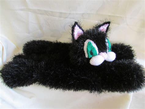 Piyama Black Cat fluffy black cat pyjama folksy