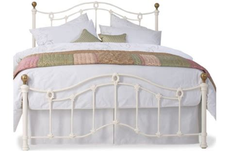 4 Foot Bed Frames Obc Clarina Low Foot End 6ft Kingsize Ivory Metal Bed Frame By Original Bedstead Company