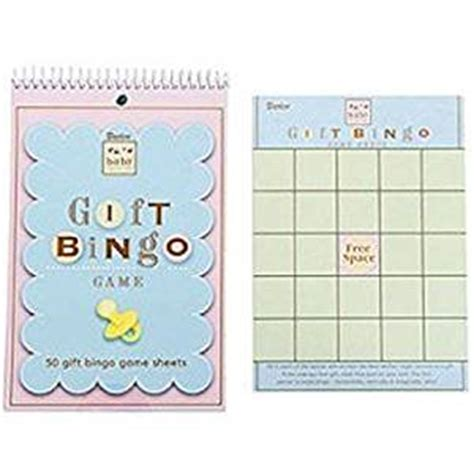 Amazon Gift Card Baby Shower - amazon com baby shower game pad gift bingo card games sports outdoors