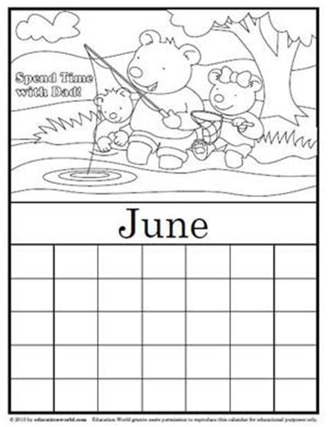 printable calendar education world coloring calendar june version 2 education world