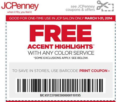 printable jcpenney salon coupons jcpenney salon coupons printable things it can offer to